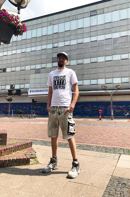 Straight Outta Handwerk T-Shirt weiß